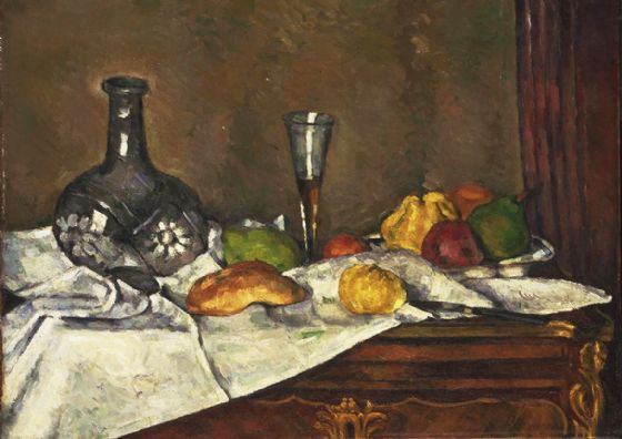 Cezanne, Paul: Still Life with a Dessert. Fine Art Print/Poster. Sizes: A4/A3/A2/A1 (004242)